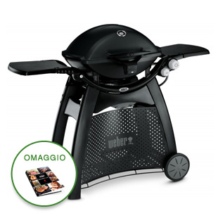 BARBECUE Q 3200 BLACK WEBER 57010029 A GAS CON CARRELLO INTEGRATO