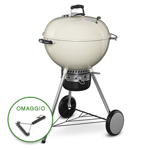 BARBECUE MASTER TOUCH GBS Ø 57 CM IVORY WHITE WEBER 14505004 A CARBONE