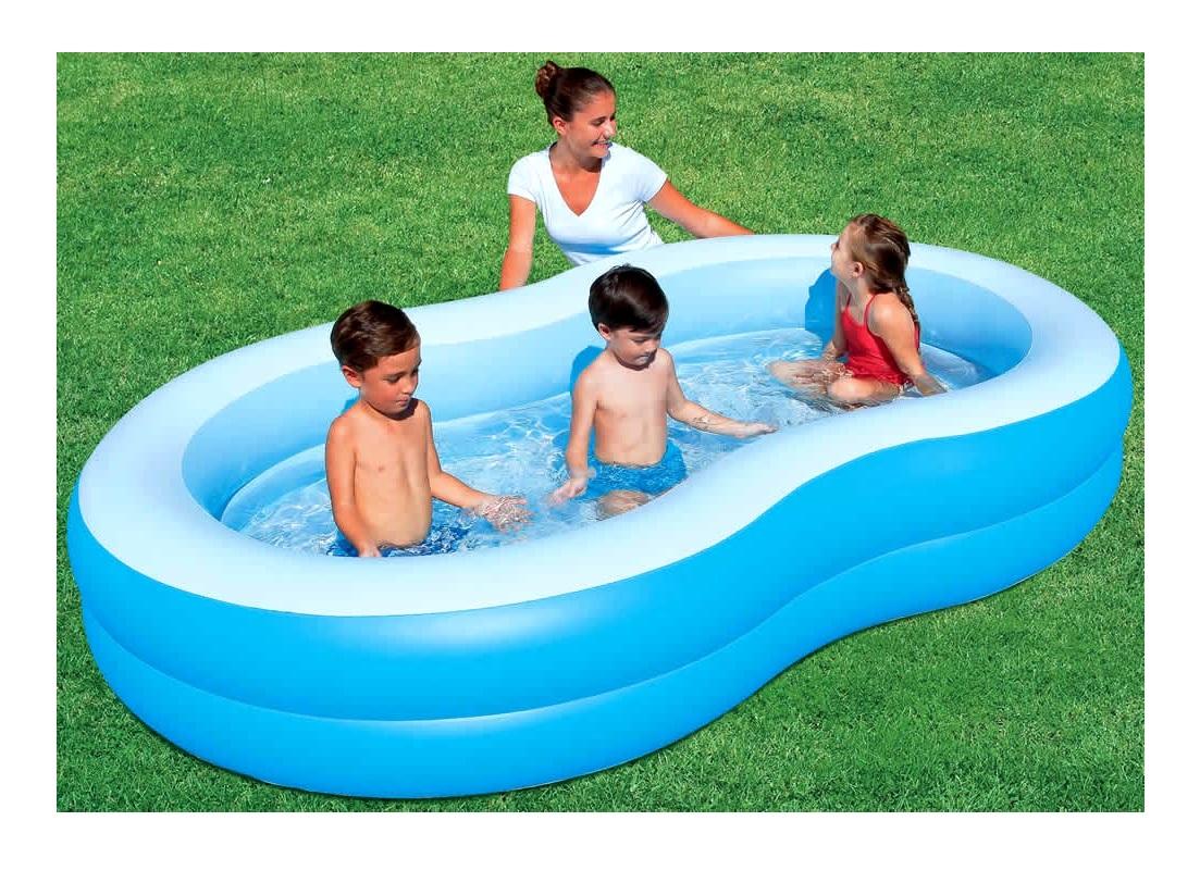 Piscina a forma di otto a 2 anelli 262x157x46 cm for Bestway piscine e accessori