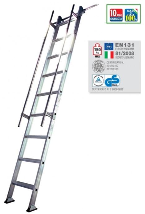 Scala da appoggio 9 gradini programma s15 1 in alluminio - Scale da appoggio ...