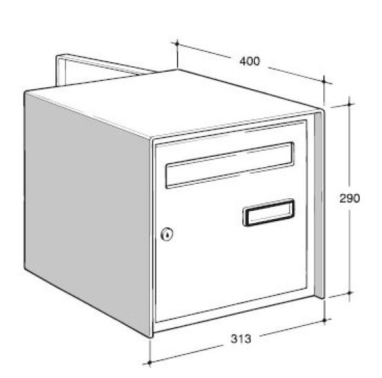 Cassetta Postale Open Air Bifacciale Formato Rivista Grandi