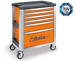 Cassettiera mobile a 6 cassetti Max 1200 Kg. orange C39/6O