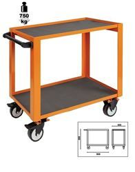Carrello a 2 ripiani Heavy Orange