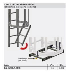 Cancelletto anti intrusione per scale a gabbia Security System